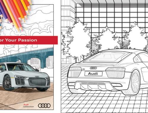 Audi maľovanka pre deti