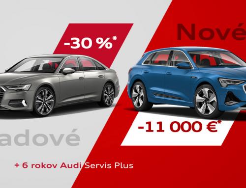Zľavy až 30 %: vyberte si z mimoriadnej ponuky Audi